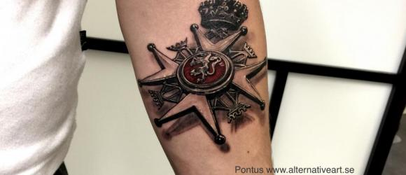 Medal tattoo